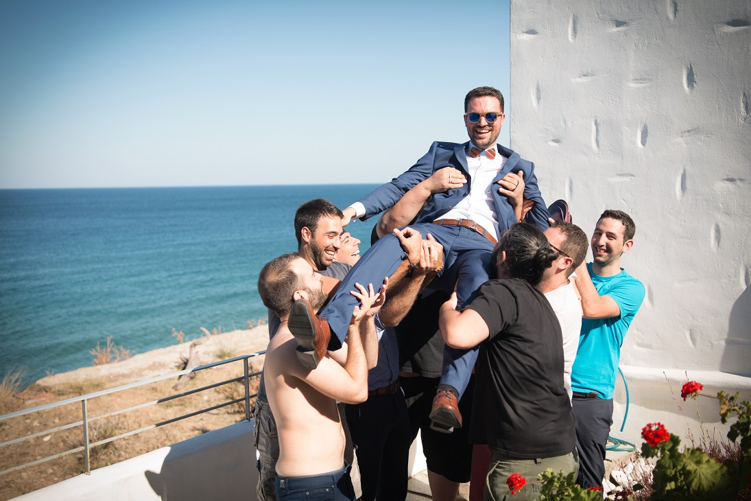 skyros sporades greece summer best men hooray hugs groom weddingskyros wedding