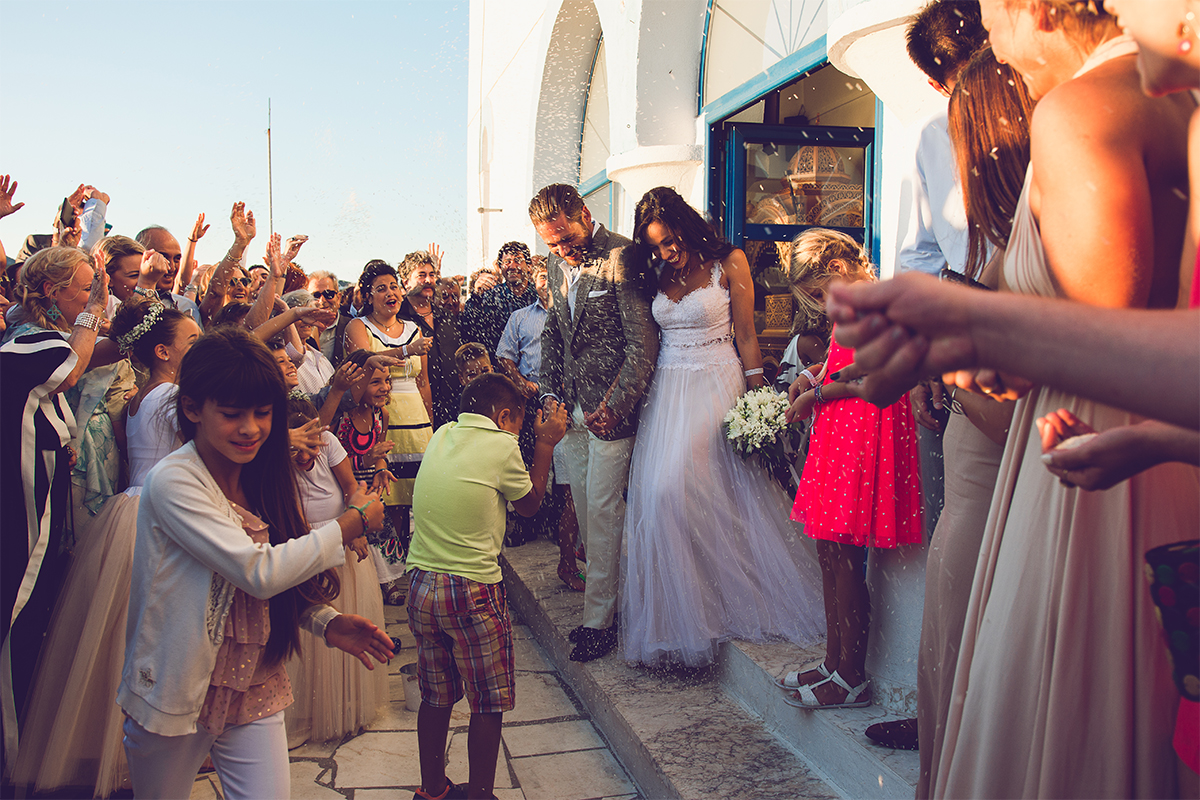 wedding skyros sporades weddingingreece wedding destination groom bride rice church ceremony