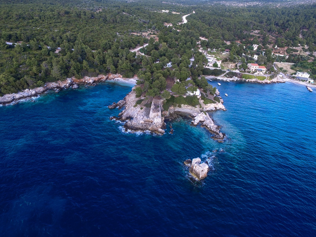aerial view forest sea coast atsitsa greece sporades skyros venue wedding weddingskyros