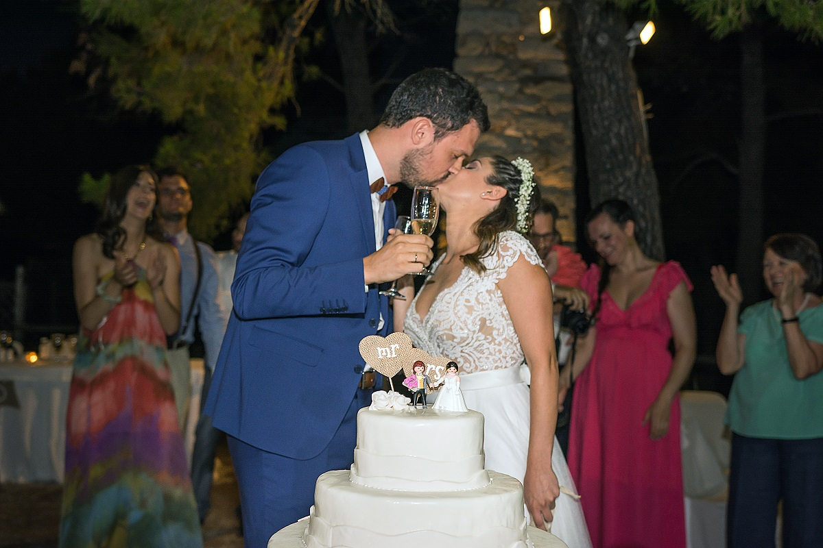 wishes atsitsa greece sporades skyros venue wedding weddingskyros decoration wedding cake kiss bride groom